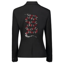 Load image into Gallery viewer, Hipchik Crystal Snake Red Black Blazer - Hipchik