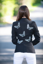 Load image into Gallery viewer, Hipchik Rhinestone Butterflies Black Blazer