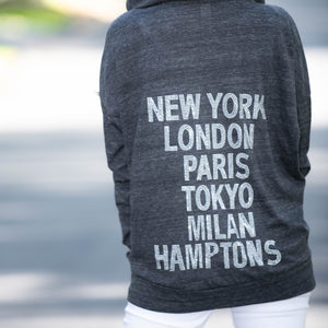 Hipchik Hoodie Zip up Cities Jersey Sweatshirt