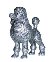 "Load image into Gallery viewer, Interior Illusions Plus Graphite Rhinestone Poodle Decoration - 11"" tall"