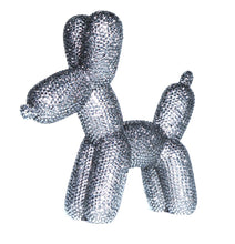 "Load image into Gallery viewer, Interior Illusions Plus Graphite Rhinestone Balloon Dog Bank - 10.5"" tall"