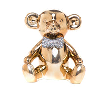 "Load image into Gallery viewer, Interior Illusions Plus Bronze Bear with Rhinestone Bow Tie Bank - 8.5"" tall"