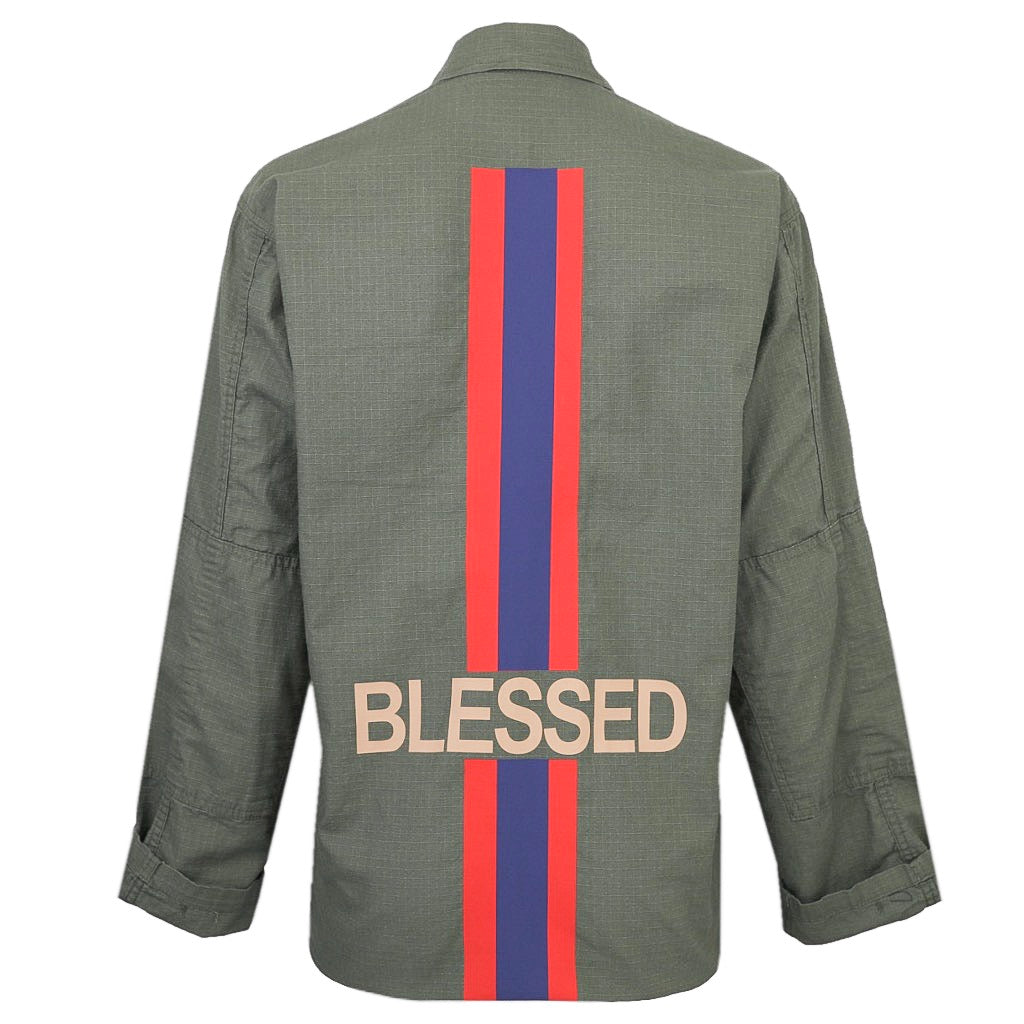 Hipchik Blessed Army Green Jacket
