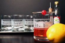 Load image into Gallery viewer, Hipchik Home Rue Orleans Double Old Fashioned (Mixed Set of 4)