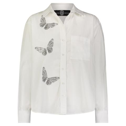 """BUTTERFLIES FRONT"" WHITE SHIRT"
