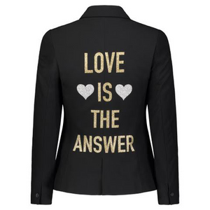 Hipchik Love Is The Answer Black Blazer - Hipchik