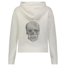 Load image into Gallery viewer, Hipchik Skull White Hooded Sweatshirt - Hipchik
