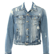 Load image into Gallery viewer, Hipchik Buddha Studded Denim Jean Jacket - Hipchik