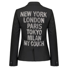 Load image into Gallery viewer, Hipchik Crystal Cities Black Blazer - Hipchik
