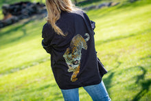 Load image into Gallery viewer, Hipchik Vintage Army Black Rhinestone Jacket