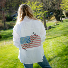 Load image into Gallery viewer, Hipchik USA Flag Fragile White Shirt