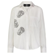 Load image into Gallery viewer, Hipchik Skulls Front White Shirt - Hipchik