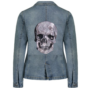 Sample Sale Hipchik Skull Denim Blazer