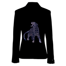 Load image into Gallery viewer, Hipchik Cheetah Black Blazer