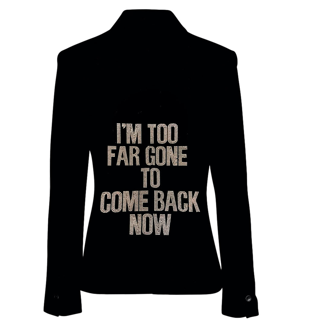 Too Far Gone Studded Black Blazer