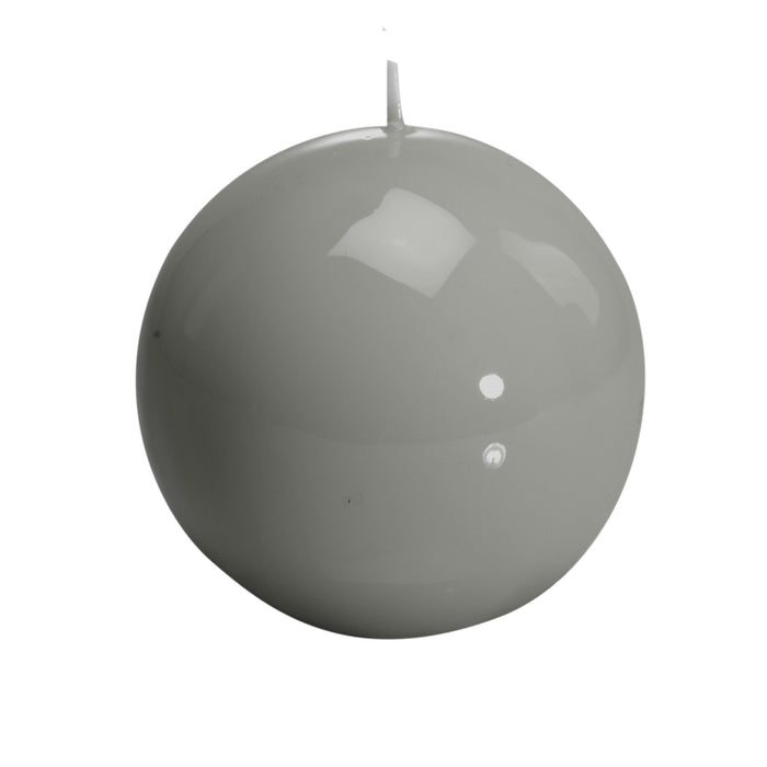 """Sphere"", Pearl Grey Candle"