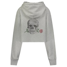Load image into Gallery viewer, Hipchik Rose Skull Reverse Weave Champion Crop Sweatshirt - Hipchik