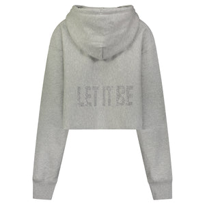 Hipchik Let It Be Reverse Weave Champion Crop Sweatshirt - Hipchik
