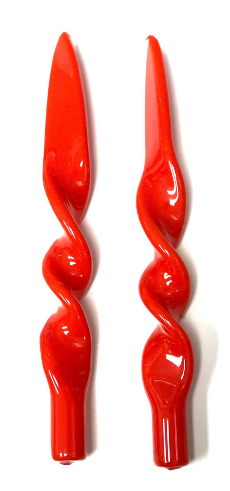 """Lacquered Twisted"", Set of 2 Candles - Ocher"