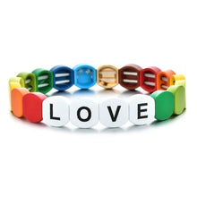 Load image into Gallery viewer, HIPCHIK Word Tile Bracelets multi love