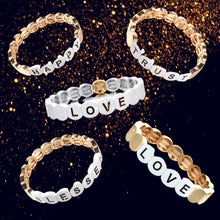 Load image into Gallery viewer, HIPCHIK Word Tile Bracelets white love