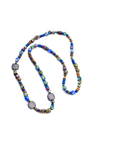Hipchik Couture African beads Necklace and pave spacers