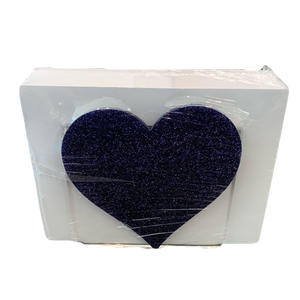 PURPLE GLITTER HEART NOTE HOLDER