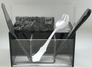 """Silverware Caddy"" Acrylic Lucite"