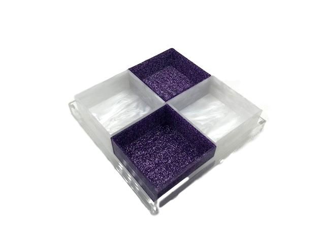 """Swivel Compartment"" Acrylic Tray"
