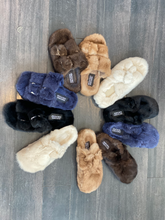 Load image into Gallery viewer, Closed Toe Mink Clogs Navy