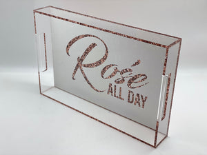 Rose All Day White Acrylic Tray
