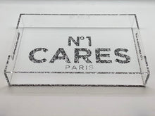 Load image into Gallery viewer, Number one cares  White Acrylic Tray