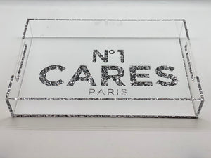 Number one cares  White Acrylic Tray