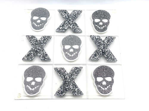 Hipchik Pop Skull Tic Tac Toe  Acrylic Lucite Game