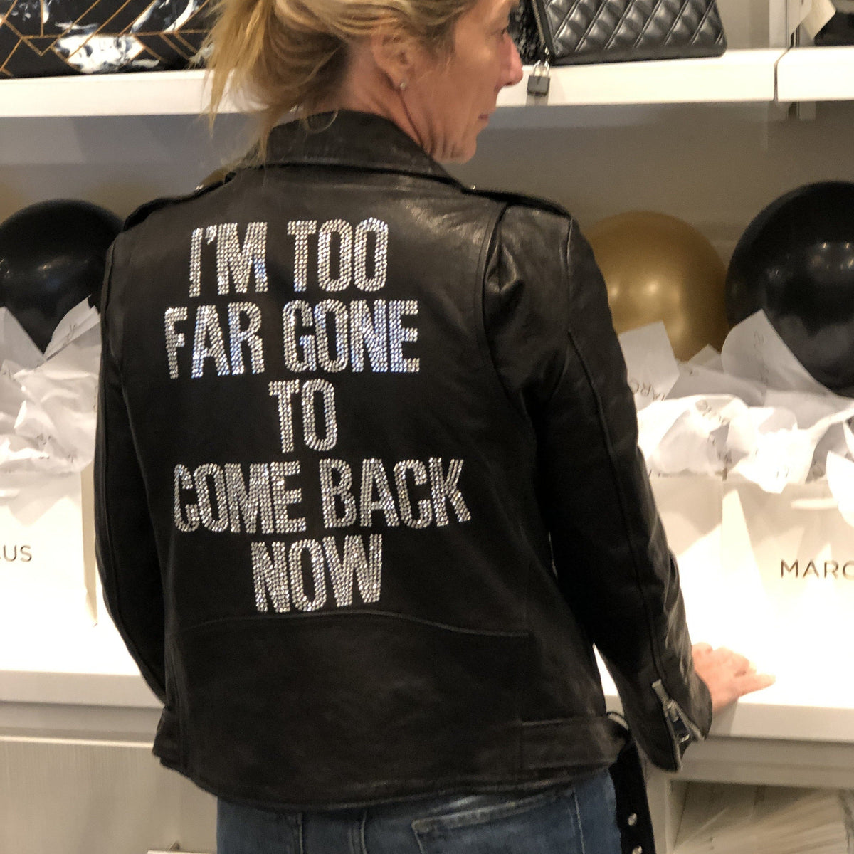 """TOO FAR GONE"" Leather Motorcycle Jacket - HIPCHIK"