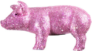 "Interior Illusions Plus Pink Rhinestone Piggy Bank - 12"" long"