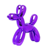"Load image into Gallery viewer, Interior Illusions Plus Purple Balloon Dog - 12"" tall"