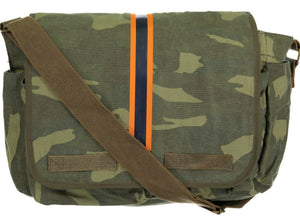 """Striped Camo"", Messenger Bag - MONOGRAMMED AVAILABLE"
