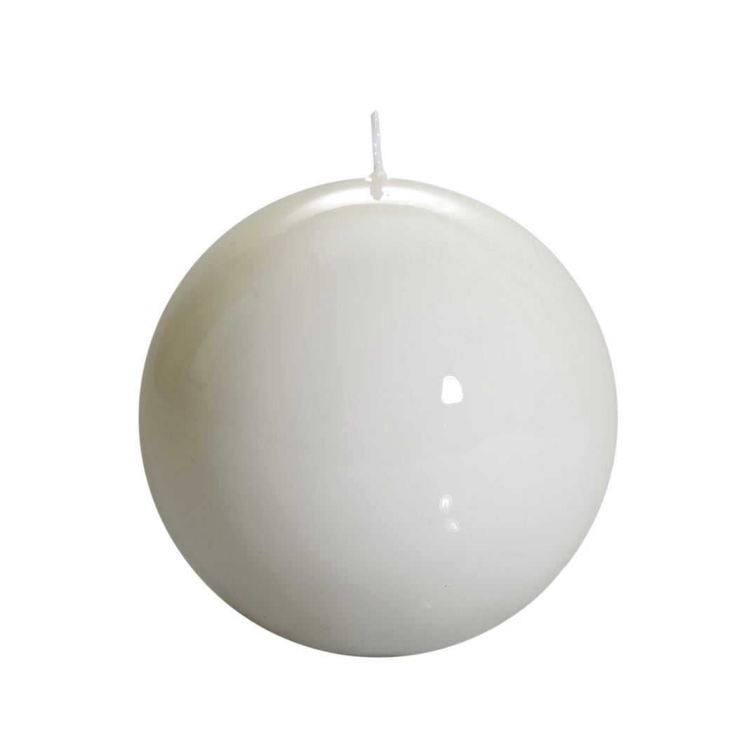 Sphere, White Candle