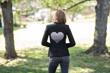 Load image into Gallery viewer, Hipchik Ombre Heart Black Blazer
