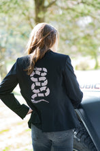 Load image into Gallery viewer, Hipchik Silver Snake Black Blazer
