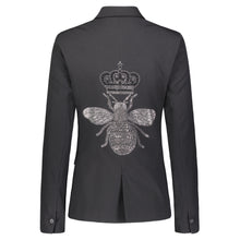Load image into Gallery viewer, Hipchik Silver Bee Black Blazer