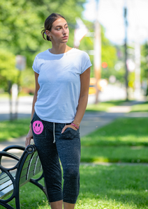 Hipchik Jersey Ankle length Neon Pink Smiley Sweatpants