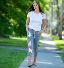 Load image into Gallery viewer, Hipchik Jersey Ankle length Jersey Butterflies Sweatpants