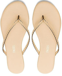 Tkees Scalloped Nude Sandals