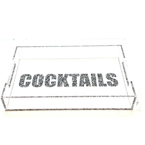 Hipchik Pop Lucite Acrylic Cocktail Tray