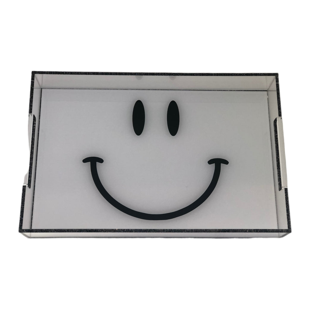 Yellow Smiley Acrylic Tray