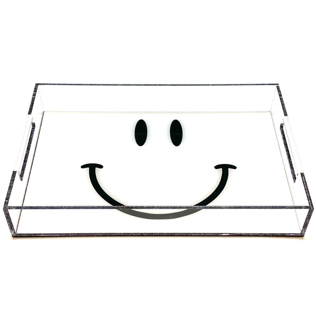 White Smiley Acrylic Tray