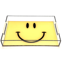 Load image into Gallery viewer, Yellow Smiley Acrylic Tray