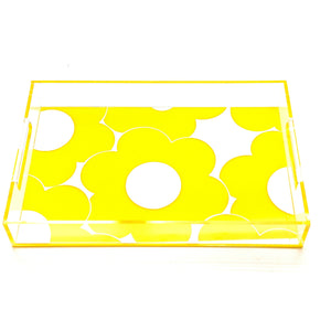 Daisies Acrylic Lucite Tray